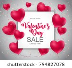 valentines day sale  discount... | Shutterstock .eps vector #794827078