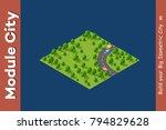 isometric module is area... | Shutterstock .eps vector #794829628