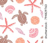 vector seamless pattern with... | Shutterstock .eps vector #794829763