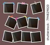 set of vintage photo frame with ... | Shutterstock .eps vector #794829820