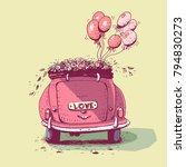 Wedding Car  Vector...
