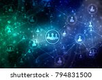 2d illustration business... | Shutterstock . vector #794831500