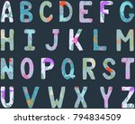 english alphabet. capital... | Shutterstock .eps vector #794834509