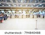airport terminal blurred crowd... | Shutterstock . vector #794840488