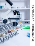 Small photo of Chemical Laboratory of the Food supply . Food in laboratory, dna modify