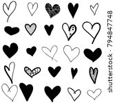 hearts hand drawn icons set... | Shutterstock .eps vector #794847748