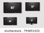 tv screen  lcd monitor size... | Shutterstock .eps vector #794851423