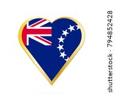 flag of cook islands in the... | Shutterstock .eps vector #794852428