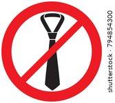 male business ties not allowed ... | Shutterstock .eps vector #794854300