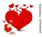 valentine card. valentines day... | Shutterstock .eps vector #794854936