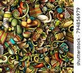 cartoon cute doodles latin... | Shutterstock .eps vector #794856979