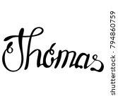 thomas name lettering | Shutterstock .eps vector #794860759