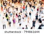 rush hour people | Shutterstock . vector #794861644