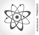 atom icon in flat design. gray...   Shutterstock .eps vector #794862610