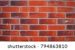 red brick wall background.... | Shutterstock . vector #794863810