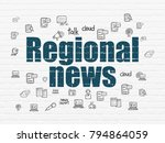 news concept  painted blue text ... | Shutterstock . vector #794864059