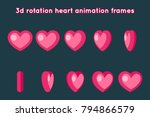 valentine day 3d heart rotation ... | Shutterstock .eps vector #794866579
