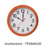 Clock Of Pattern Brown Wood In...