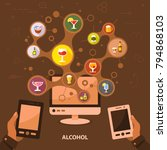alcohol flat icon concept.... | Shutterstock .eps vector #794868103