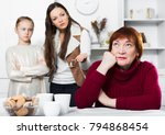 portrait of upset senior woman...   Shutterstock . vector #794868454