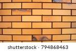 yellow brickwork  texture ... | Shutterstock . vector #794868463