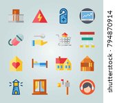 icon set about real assets.... | Shutterstock .eps vector #794870914