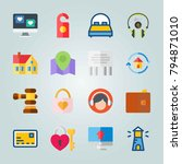icon set about real assets.... | Shutterstock .eps vector #794871010