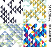 triangles and rhombs geometric... | Shutterstock .eps vector #794871610