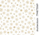 snowflake seamless pattern.... | Shutterstock .eps vector #794875069