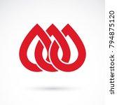vector red blood drop... | Shutterstock .eps vector #794875120