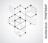 modular bauhaus vector... | Shutterstock .eps vector #794876869
