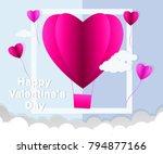love invitation card valentine...   Shutterstock .eps vector #794877166