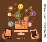 gynecology flat icon concept.... | Shutterstock .eps vector #794879533