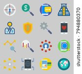 icons set about marketing. with ... | Shutterstock .eps vector #794880370