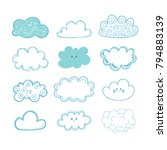 sketch sky. doodle collection... | Shutterstock .eps vector #794883139