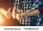 close up of business team... | Shutterstock . vector #794883634
