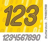 set of stylish retro vector...   Shutterstock .eps vector #794883988