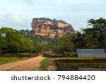 landscape of ruin royal gardens ...   Shutterstock . vector #794884420