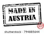 made in austria   template of... | Shutterstock .eps vector #794885644
