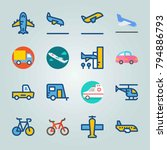icon set about transport. with... | Shutterstock .eps vector #794886793