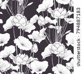 seamless pattern  background... | Shutterstock .eps vector #794887183
