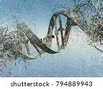 surreal digital art. damaged... | Shutterstock . vector #794889943