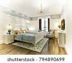 3d render of bedroom | Shutterstock . vector #794890699