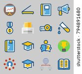 icons set about school and...   Shutterstock .eps vector #794891680