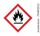 flammable warning symbols vector | Shutterstock .eps vector #794892013