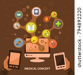 medical flat icon concept.... | Shutterstock .eps vector #794892220