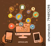 office life flat icon concept....   Shutterstock .eps vector #794892298