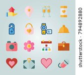 icon set about wedding. with... | Shutterstock .eps vector #794892880