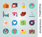 icon set about wedding. with... | Shutterstock .eps vector #794892934