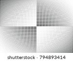 abstract halftone wave dotted... | Shutterstock .eps vector #794893414